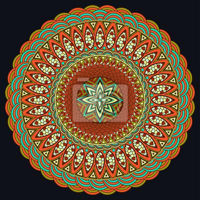 Mandala Bunt Boho Stil Hippie Schmuck Rundes Verzierungs Muster
