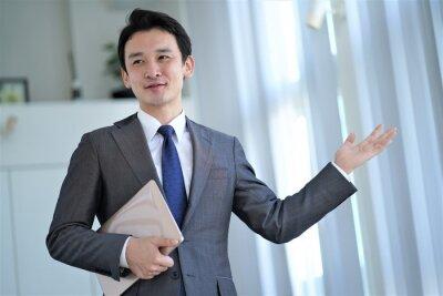 Bild アジア人男性 一人のポートレート