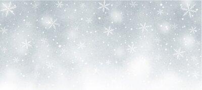 Bild 雪の結晶の幻想的な水彩背景 グレー