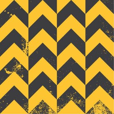 Bild yellow chevron pattern with distressed texture