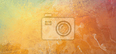 Bild Yellow orange background colors with vintage grunge texture and grainy white marbled color splashes in abstract painted design