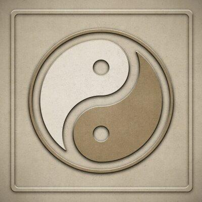 Bild Yin Yang - Papier - Prägung