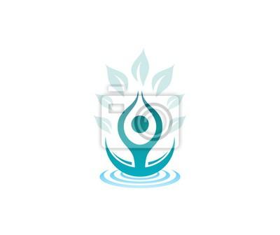 Yoga Zeichen Leinwandbilder Bilder Lotus Yoga Spa Myloviewde