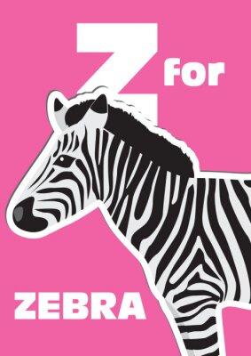 Bild Z für die Zebra, ein Tier-Alphabet für Kinder