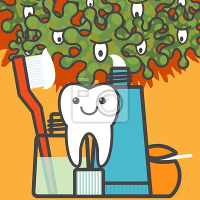 Bild Zahn- und Zahnpflege.