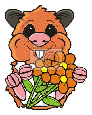 Weinleserahmen Fur Ihr Design Mit Niedlichen Froschen Und Blumen