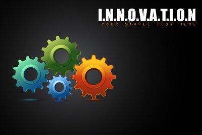 Bild Zahnrad in Innovationskonzept