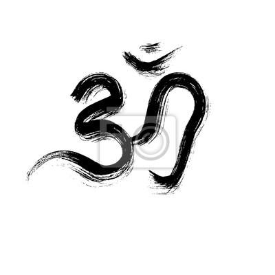 Zeichen Vektor Hindu Om Symbol In Tamil Leinwandbilder Bilder Ohm