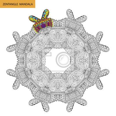Zentangle Mandala Ausmalbilder Für Erwachsene Entspannung