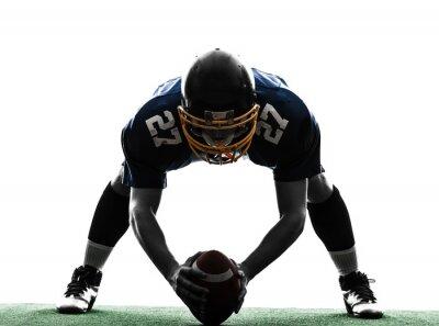 Bild Zentrum american football player Mann Silhouette