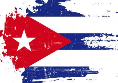 Bild Zerkratzt kubanischer Flagge