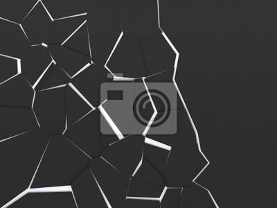 Bild Zerschmetterte schwarze Oberfläche