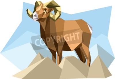 Bild Ziege im Kubismusstil