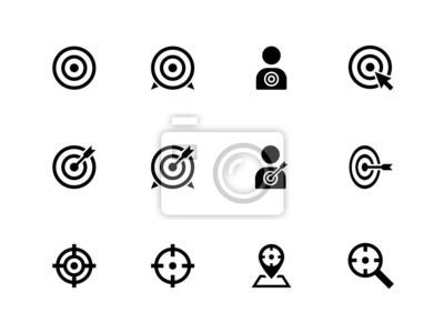 Ziel Symbole auf weißem Hintergrund.