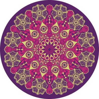 Bild Zier-Runde Lochmuster, Kreis Hintergrund mit vielen detai