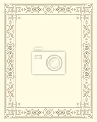 Bild Zierrahmen vintage vector