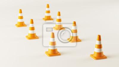 Zig Zag Traffic Cones