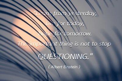 Bild Zitat von Albert Einstein Hintergrund.