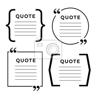 Zitieren Sie Leere Vorlage Zitatblase Leere Vorlage Kreis