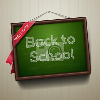 Zurück in der Schule, auf eine Tafel geschrieben, vector eps10 Bild