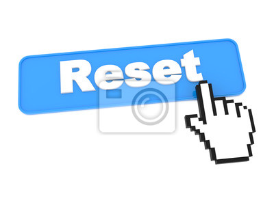Zurücksetzen Web Button. auf weißem Hintergrund.