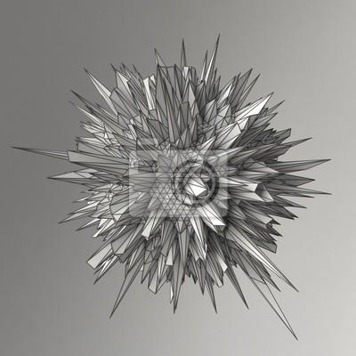Bild Zusammenfassung 3d render Kugel Polygone