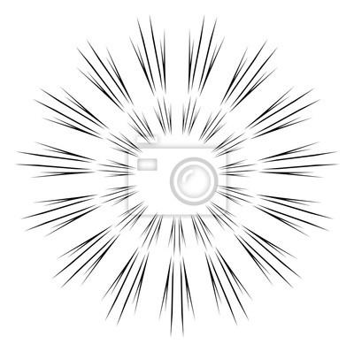 Zusammenfassung Circular Sparkle schwarze Strahlen Explosion