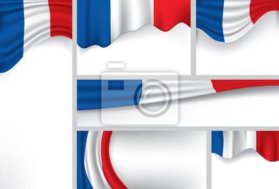 Zusammenfassung Frankreich Flagge Französisch Farben