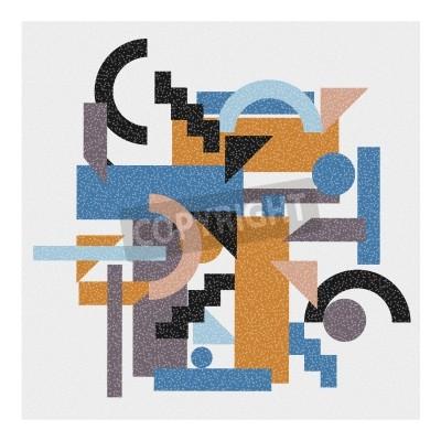 Bild Zusammenfassung geometrischen Hintergrund im Kubismus-Stil.