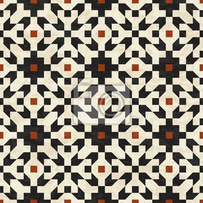 bild zusammenfassung geometrischen mosaik muster marmor fliesen im islamischen stil texturierte nahtlose vektor - Mosaik Muster