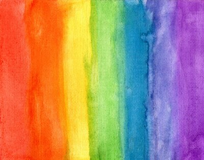 Bild Zusammenfassung gestreiften Regenbogen Aquarell Hintergrund
