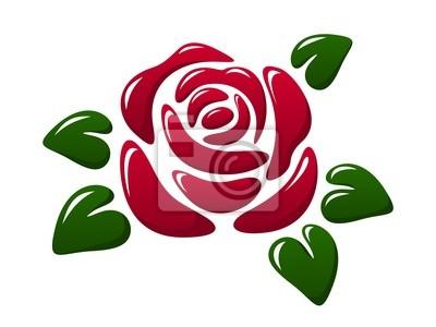 Bild Zusammenfassung glänzend rote Rose. Vektor-Illustration.