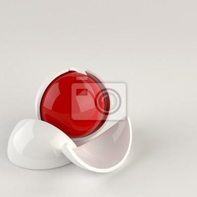Bild Zusammenfassung glänzende Kugel. Roten Kern