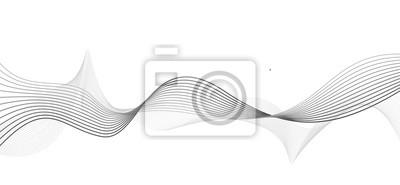 Zusammenfassung graue Welle isoliert auf weißem Hintergrund. Vektor illustra