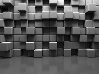 Bild Zusammenfassung grauen Würfelblöcke Wall Background