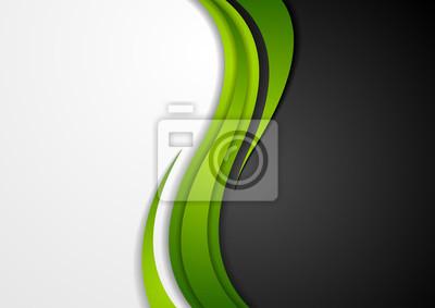 Bild Zusammenfassung grün schwarz grau wellenförmige Hintergrund