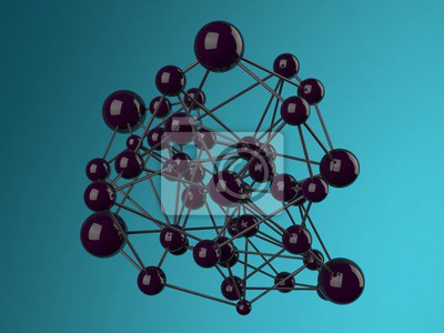 Bild Zusammenfassung Hintergrund Molekül