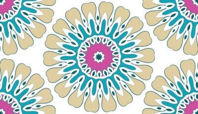 Bild Zusammenfassung Nahtlose geometrische Blumenmuster von Punkten auf einem weißen Hintergrund. Vektor