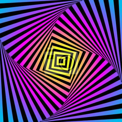 Zusammenfassung optische Täuschung - bunten Hintergrund. Cmyk Konzept