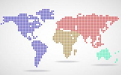 Bild Zusammenfassung Weltkarte von runden Punkten
