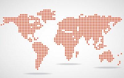 Bild Zusammenfassung Weltkarte von runden Punkten. Abbildung. Eps 10