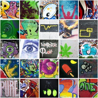 Bild Zusammensetzung graffiti art urbain