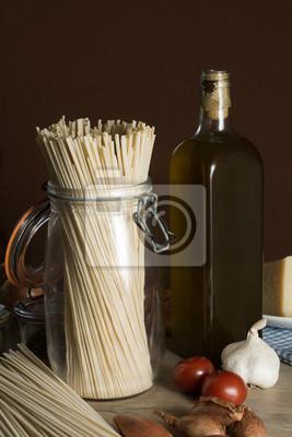Zutaten für eine italienische Mahlzeit