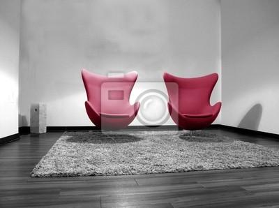 Zwei rote Stühle