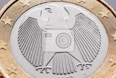 1 Euro Münze Adler Rückseite Deutschland Fototapete Fototapeten