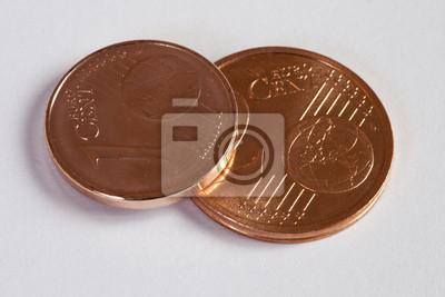 1 Und 2 Euro Cent Münzen Fototapete Fototapeten Finanzierung Cent