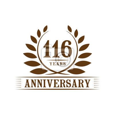 116 Jahre Jubilaum Logo Vorlage Fototapete Fototapeten Th 116