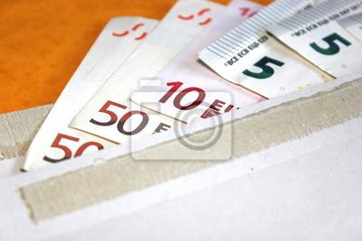 125 Euro in einem Umschlag verschickt