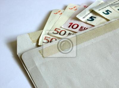 125 Euros sent in an envelope