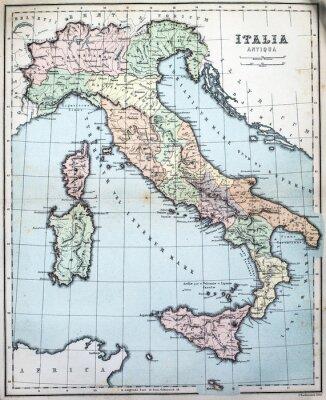 Fototapete 19. Jahrhundert Karte der römischen Italien